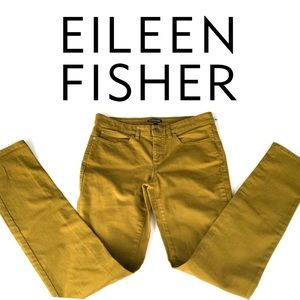 EILEEN FISHER Sz 2 Olive Green Skinny Jeans Pants
